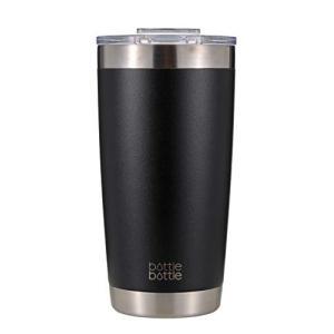 タンブラー 600ml 真空 断熱 ステンレス 穴あるフタ付き ボトル コーヒー ビルー 学生 女性 男性 ブラック bottlebottle|shokolaballet