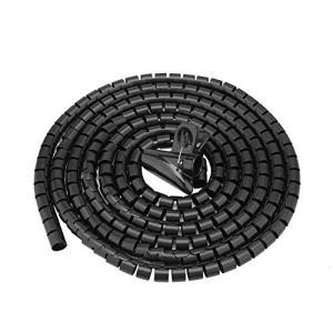 ケーブルモール プロテクター Mugast 配線結束 保護用チューブ 調節可能 柔軟 配線カバー チューブ 家庭用(ブラック3.0m*16mm) shokolaballet