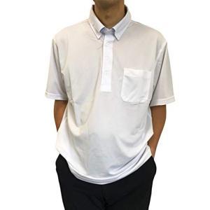 ポロシャツ 半袖 [ホワイト] 白 KEN GROVE メンズ ボタンダウン 作業着 (Lサイズ) ...