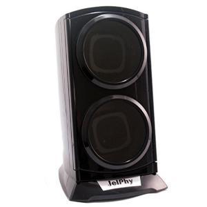 ワインディングマシーン 2本巻き マブチモーター採用 LEDライト付 縦型ツイン KA015 (ブラック) shokolaballet