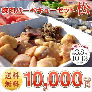 業務用セット (BBQ  バーベキュー) 『焼肉バーベキューセット 松』10〜13人前 (焼き肉 焼肉 バーベキュー) セット|shokufukutei