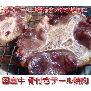 コラーゲンたっぷり『国産牛 骨付きテール焼肉用200g』骨付きカルビみたいに食べられます(29の日 肉の日)(焼き肉 焼肉 バーベキュー)北海道・関西・九州産|shokufukutei