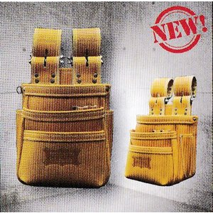 ニックス(KNICKS) KGC-301DDX 最高級硬式グローブ革チェーンタイプ3段腰袋(キャメル)|shokunin-japan