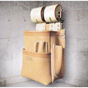 【SALE】ニックス(KNICKS) KN-201SPDX 自在型チェーンタイプ総グローブ革2段腰袋 |shokunin-japan