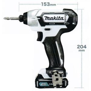 マキタ 充電式インパクトドライバー TD110DSHSW 10.8V電池1個・充電器・ソフトケース付|shokunin-japan