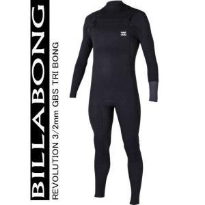 ウェットスーツ  ビラボン 3/2mm  REVOLUTION TRI BONG チェストジップ メンズ フルスーツ  2017 最新モデル BLK|shonanmart