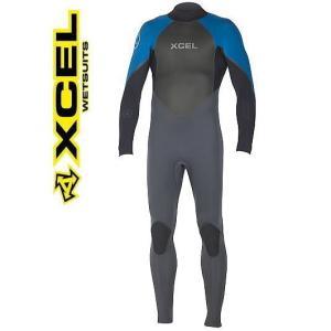 ウェットスーツ  エクセル 3/2mm メンズフルスーツ XCEL AXIS バックジップ blue x grey  2016 shonanmart