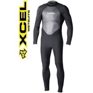 ウェットスーツ  エクセル  4/3mm メンズフルスーツ XCEL AXIS バックジップ black  2016 shonanmart