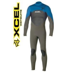 ウェットスーツ  エクセル 3/2mm メンズフルスーツ XCEL AXIS X2 チェストジップ moss shonanmart