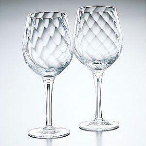 カガミクリスタル バーガンディ ペアワイングラス カガミクリスタル shop-adex