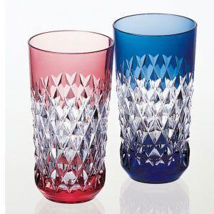 カガミクリスタル 色被せクリスタルグラス ペアタンブラーグラス カガミクリスタル|shop-adex
