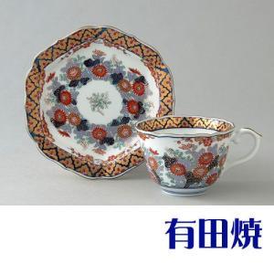 コーヒーカップ 有田焼 弥左衛門窯 染錦菊詰 コーヒーカップ|shop-adex