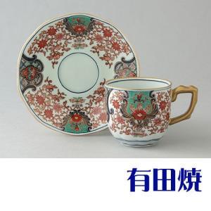 コーヒーカップ 有田焼 弥左衛門窯 古伊万里更紗 コーヒーカップ|shop-adex
