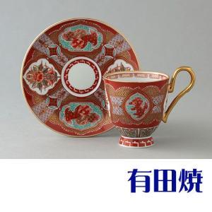 コーヒーカップ 有田焼 弥左衛門窯 赤濃木甲草花 コーヒーカップ|shop-adex
