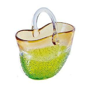 花瓶 ガラス・クリスタル花器 緑釉手付き花器 花瓶|shop-adex