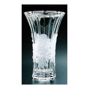 花瓶 花びん ガラス・クリスタル 蘭模様 フラワーベース(大) 花瓶|shop-adex