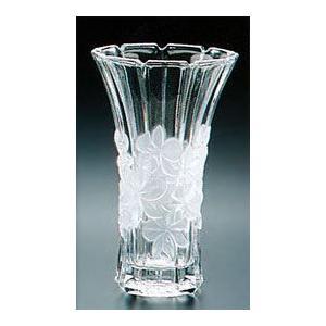 花瓶 ガラス・クリスタル花器 蘭模様 フラワーベース(中) 花瓶|shop-adex