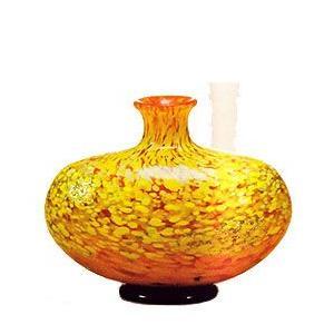 花瓶 ガラス・クリスタル花器 紅葉 丸型花器(中) 花瓶|shop-adex