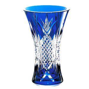 カガミクリスタル 花器・花瓶 青 カガミクリスタル|shop-adex