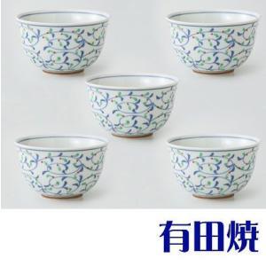 有田焼 都唐草 湯呑み5客セット(仙茶揃え) shop-adex