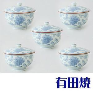 有田焼 古代唐草 湯呑み5客セット(フタ付汲出揃え) shop-adex