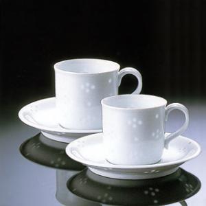 白山陶器 ほたる星華 Q型コーヒーカップ&ソーサー ペアセット 白山陶器|shop-adex