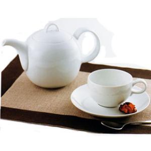 白山陶器 MAYU(まゆ) カフェセット(専用ポット付き) 白山陶器|shop-adex