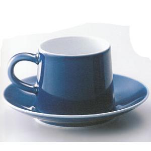 白山陶器 M型コーヒーカップ&ソーサー(ブルー) 白山陶器|shop-adex