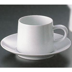 白山陶器 M型コーヒーカップ&ソーサー(ホワイト) 白山陶器|shop-adex