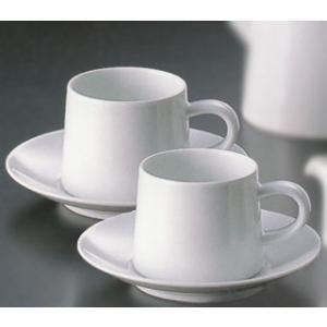 白山陶器 M型コーヒーカップ&ソーサー ペアセット(ホワイト) 白山陶器|shop-adex