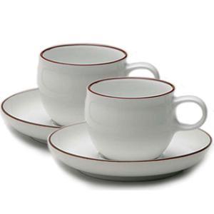 白山陶器 G型モーニングカップ&ソーサー ペアセット 白山陶器|shop-adex