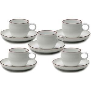 白山陶器 G型モーニングカップ&ソーサー 5客セット 白山陶器|shop-adex