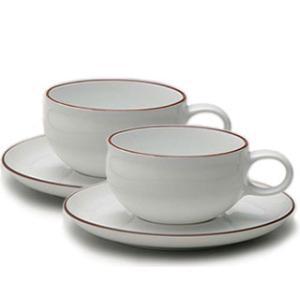 白山陶器 G型ティーカップ&ソーサー ペアセット 白山陶器|shop-adex
