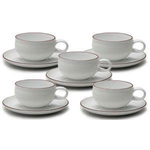 白山陶器 G型ティーカップ&ソーサー 5客セット 白山陶器|shop-adex