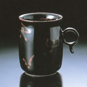白山陶器 Q型 マグカップ ブラック 白山陶器|shop-adex