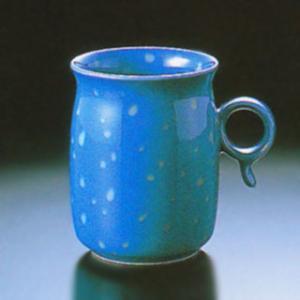 白山陶器 Q型 マグカップ ブルー 白山陶器|shop-adex