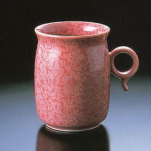 白山陶器 Q型 マグカップ 赤つる 白山陶器|shop-adex