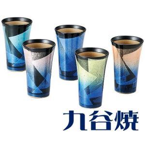 九谷焼 ビアカップ 銀彩5客セット ビールカップ 九谷焼|shop-adex