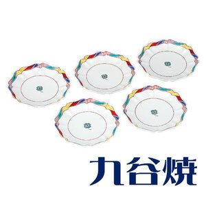 九谷焼 5.5号皿揃え 四つ葉のクローバー 九谷焼 shop-adex
