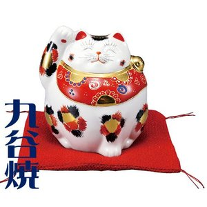 九谷焼 置物 招き猫・金三毛 九谷焼 置き物|shop-adex