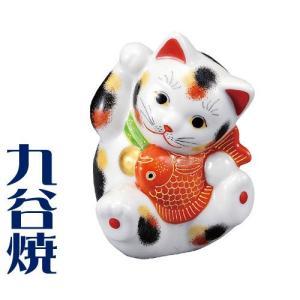 九谷焼 置物 鯛招き猫・三毛 九谷焼 置き物|shop-adex