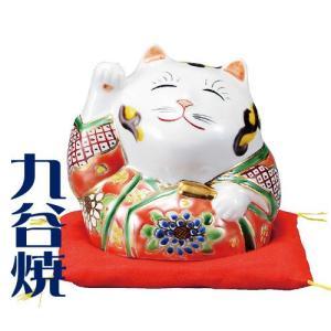 九谷焼 置物 招き猫・青九谷 九谷焼 置き物|shop-adex