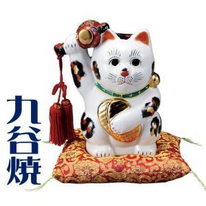 九谷焼 置物 小槌上げ小判招き猫・三毛 九谷焼 置き物|shop-adex