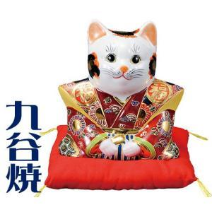 九谷焼 置物 福助猫・盛 九谷焼 置き物|shop-adex