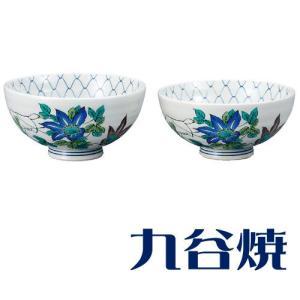 九谷焼 夫婦茶碗セット 鉄仙 ペアセット 九谷焼|shop-adex