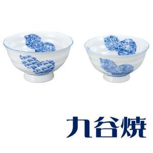九谷焼 夫婦茶碗セット 六瓢 ペアセット 九谷焼|shop-adex