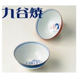 九谷焼 夫婦茶碗セット おかめひょっとこ ペアセット 九谷焼|shop-adex