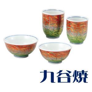夫婦茶碗 夫婦湯飲みセット 九谷焼 嵯峨野 夫婦湯のみ 夫婦茶碗|shop-adex
