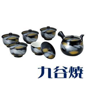 九谷焼 茶器揃え 連山 セット(急須×1 湯呑み×5) 九谷焼 茶器セット|shop-adex