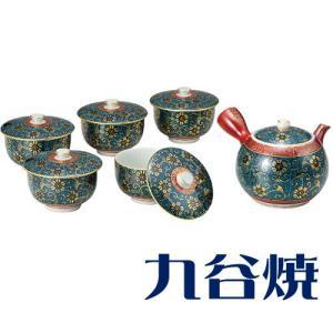 九谷焼 茶器揃え 青粒 セット(急須×1 湯呑み×5) 九谷焼 茶器セット|shop-adex